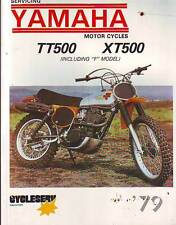 YAMAHA XT500 TT500 XT500F TT500F  WORKSHOP SERVICE REPAIR  MANUAL 1979