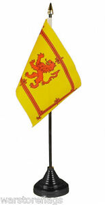 SCOTLAND LION set of 5 TABLE FLAGS Scottish flag SCOTS