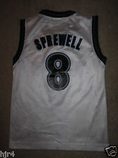 Latrell Sprewell #8 Minnesota Timberwolves NBA Reebok Jersey Youth Pequeño S 6-8
