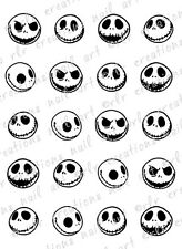 20 JACK SKELLINGTON NIGHTMARE BEFORE CHRISTMAS WATER SLIDE NAIL DECALS  NAIL ART