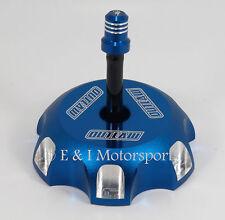 2005 2006 2007 KAWASAKI KX250 KX 250 BLUE BILLET ALUMINUM GAS FUEL CAP & HOSE