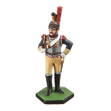 Tin Toy Soldier Napoleonic French Cuirassier metal sculpture 54mm painted #4.07