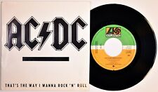"7"" AC/DC - That's The Way I Wanna Rock N..* 45 Spain PROMO – N.MINT* 1988 RARE!"
