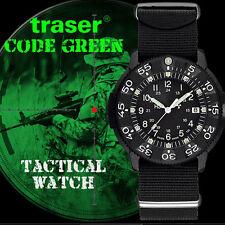 Traser Code Green Tactical Watch, Continuous Glow Tritium Illumination #106105