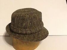 Vintage Irish Walking Hat Tweed  Jonathan Richard Tweed 7 1/8