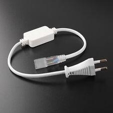 220V Special EU Plug For 5050 Strip Light LED String Accessory White Adapter