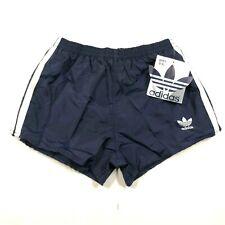 Vintage Adidas Trefoil Boys Youth L 28-30 Navy Blue Running Shorts Nylon NWT