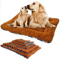 Small Large Dog Bed Mattress Warm Fleece Sleeping Mat Cushion House Kennel Sofa