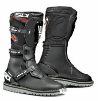 Sidi Courier Microfibre Motorcycle Bike Leather Touring Waterproof Boots - Black