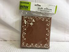 Fujifilm Instax Wide Album Brown Holds up to 20 Wide Twin Instax Photo 600015753