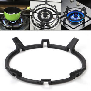 Wok Pot Stand Cooker Gas Iron Burner Rack Accessories Support Sturdy Home Cast