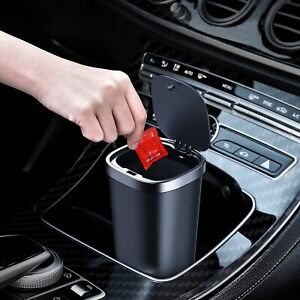 Mini Car Trash Can Waterproof With 3 Rolls Of Trash Bags Cars Kitchen Office Use