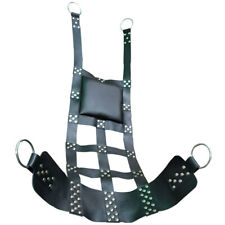 Super Premium Black Leather Web Sex Swing Sling for Adult Play SM