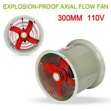 12 Explosion Proof Axial Fan Cylinder Pipe Spray Booth Paint Fumes Exhaust Fan