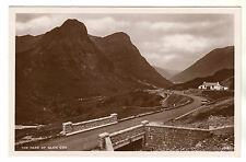 The Pass of Glencoe - Real Photo Postcard c1930s by J. B. White Dundee