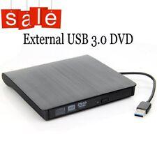 External DVD RW CD Drive Burner Portable ROM Writer Player for Mac Laptop PC USB