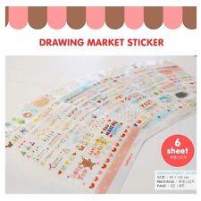 6 Cute Wanna Sticker Label Catalog Drawing Deco Diary Scrapbook Gift Photo Craft