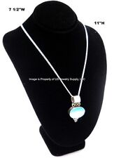Black Necklace Pendant Chain Display Bust 7 12w X 5 18d X 11h