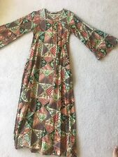 Vintage 70's Maxi Dress  Boho Hippie Angel Sleeve Small