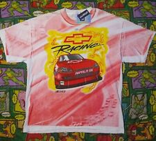 VTG Chevy Sprint Cup Nascar Racing All Over Print Double Sided Shirt XL NWT NOS