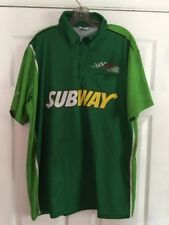 Carl Edwards Subway Pit Crew Shirt Size Large Joe Gibbs Racing