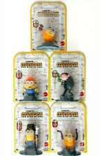 Minions The Rise Of Gru LOT OF 5 Figures ~ Bob, Stuart, Otto, Kevin, & Young Gru