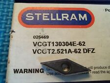 STELLRAM VCGT 2.51A-62 DFZ SP4036 BUY IT NOW = 10 INSERTS FREE SHIPPING