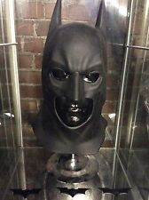 RARE BATMAN BEGINS COWL MASK MOVIE PROP DARK KNIGHT COSTUME FILM