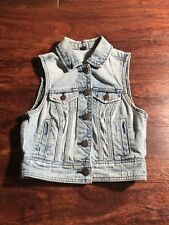 American Eagle Youth Girls Denim full Button Down Vest Size Extra Small