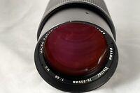 Olympus OM Fit ~ Vivitar 75-205mm F3.8 Macro Focusing Zoom Lens - Clear Optics