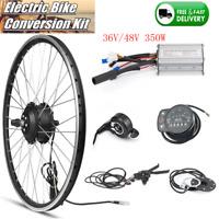 "36V 48V 350W Ebike Conversion Kit 20""26""700C Electric Bike Front Rear Hub Wheel"