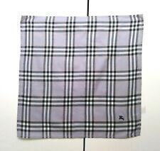 Burberry Bandana Pocket Square Handkerchief Scarf Neckerchief Nova Check Grey