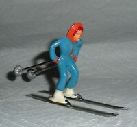 "VINTAGE LEAD BARCLAY ""GIRL ON SKIS IN BLUE"" B191 Near Mint Free Shipping  Lot G"