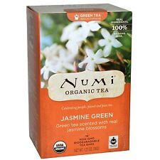 Numi Jasmine Green Tea 100 Single Bags Per Box Herbal & Organic Fresh Tea Blend