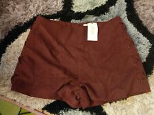 Burgundy lace detailed shorts size small