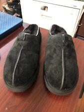 UGG Australia Men's Size 12 Neuman Shearling Slippers Black