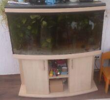 Aquarium 120x60x60cm mit gebogener Frontscheibe, 400L, Unterschrank, Filter, etc