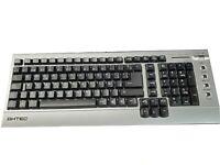 NEW AHTEC K310 Standard windows 98/internet Spanish Keyboard Silver 106 key PS2