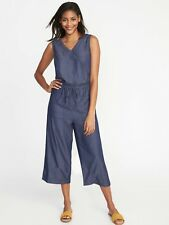 f4cdef8a6a9 Old Navy Sleeveless WAist Definded Jumpsuit-Chambray Blue-3X-NWT