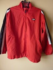 Nike Boys Windbreaker Jacket XL (18-20) Black / Red White Mesh Lined