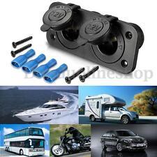 12V-24V Motorcycle Car Flush Dual Cigarette Lighter Power Socket Plug Adapter AU
