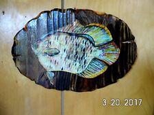 Rustic Handmade Wooden Pan Fish Sign Original 2017