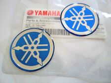 GENUINE Yamaha Tuning Fork Stickers Decals FZ FJ RD YZ Parts x 2 BLUE * 30mm *