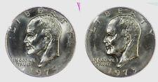 1973 P + D Eisenhower BU Dollars in original Mint Cello 2 Coin set Ike US Coins