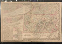 "Mitchell: ""County Map of State of Pennsylvania,"" 1873"