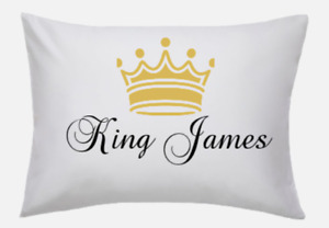 Personalised Pillowcase Cushion Pillow Case Cover any text or photo - you design
