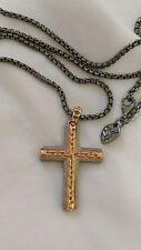 Stephen Webster Reversibile Collana con Pendente Croce con Borchie Alchimia Nessun rimpianto NUOVO