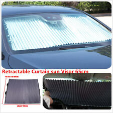 Car Retractable Curtain UV Protection Windshield Visor Shade Windscreen Blinds