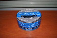 Ametalin Silver Foil Aluminium Insulation Duct Tape 50mm x 50m rolls Made in USA