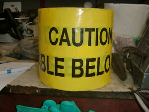 Electrical under ground yellow warning tape
